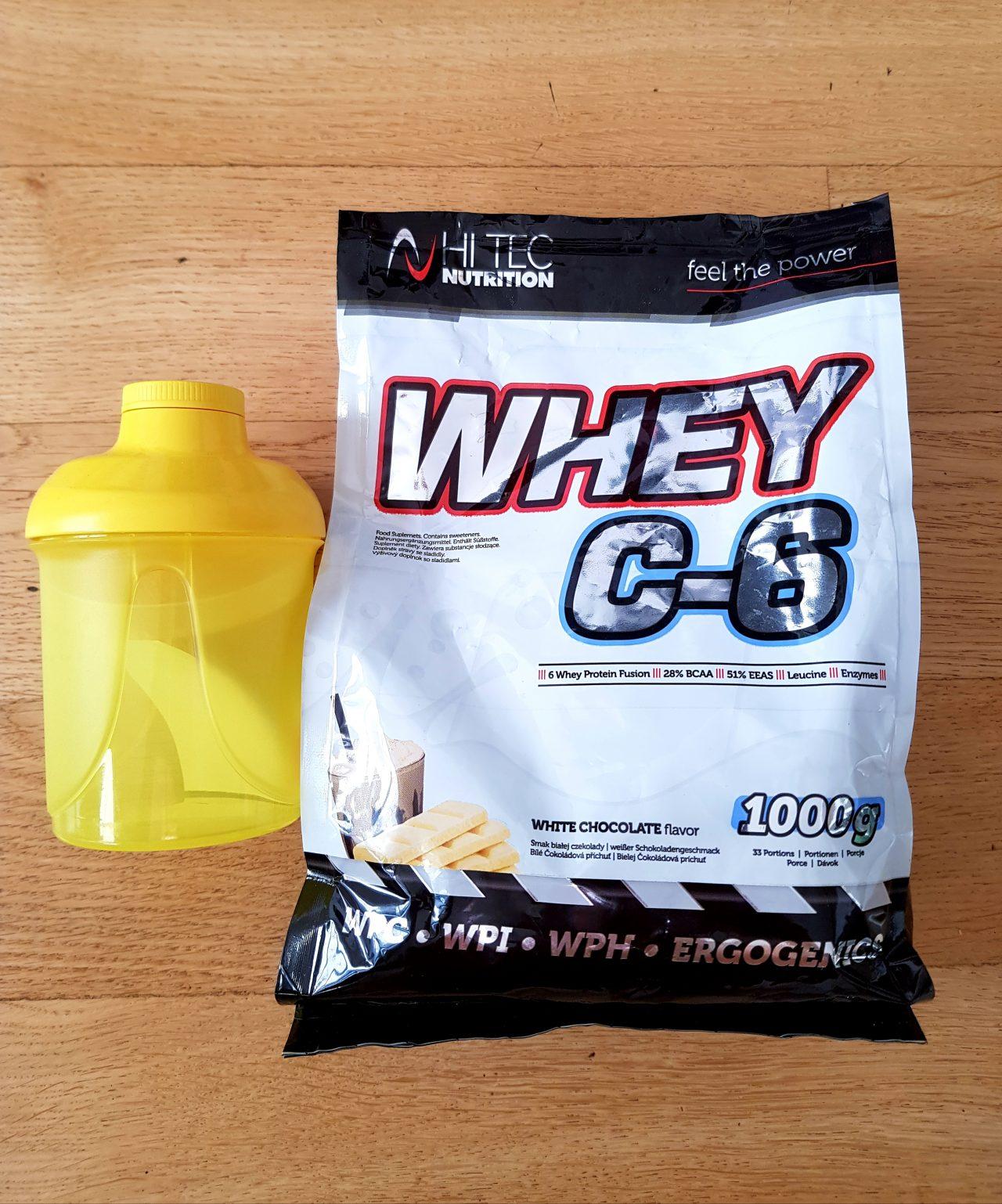 test odżywki białkowej whey C6